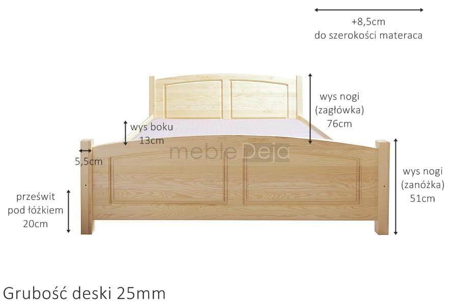 łóżko Drewniane Sosnowe Rama94 120x200