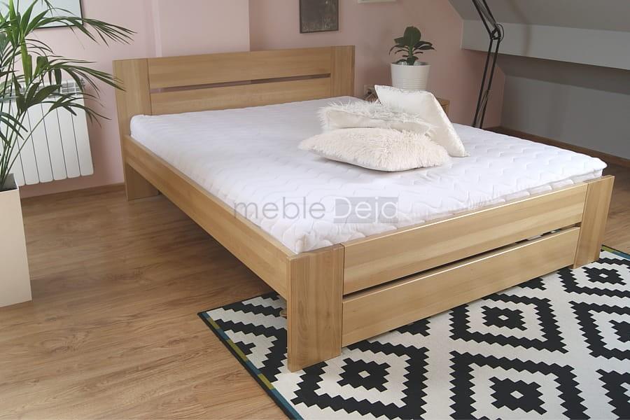 Nowość Łóżko drewniane bukowe solidne rama[87] 80x200 tanio - sklep EZ36