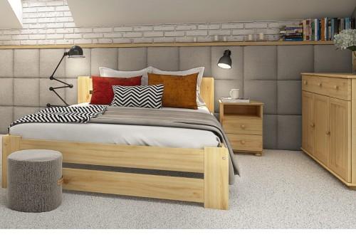 łóżko Drewniane Sosnowe Rama86 180x200 Tanio Sklep Producenta