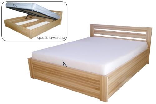 łóżko Drewniane Bukowe Tapczan Ze Stelażem 160x200